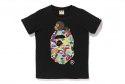 베이프(BAPE) MILO ABC MULTI MILO ON BIG APE TEE L