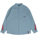로맨틱크라운(ROMANTIC CROWN) HENRY NECK BACK LINE SHIRT_LIGHT BLUE