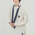 로맨틱크라운(ROMANTIC CROWN) PIPING TIE SHIRT_OATMEAL