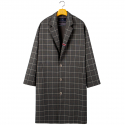 로맨틱크라운(ROMANTIC CROWN) FRIDAY THREE BUTTON CHECK COAT_GREY