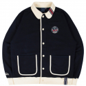 로맨틱크라운(ROMANTIC CROWN) ROUND COLLAR COTTON CARDIGAN_NAVY