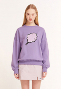클로티(CLOTTY) BIG CC SWEAT-SHIRT PURPLE(CY2ASFM470A)