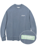 비바스튜디오(VIVASTUDIO) BOX LOGO CREWNECK JS [COOL GREY]