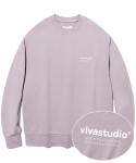 비바스튜디오(VIVASTUDIO) LOCATION CREWNECK JS [PURPLE GREY]