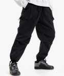 피스메이커() NYLON 2 TUCK POCKET PANTS (BLACK)