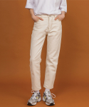 꼼파뇨(COMPAGNO) cozy stitched Cream jean