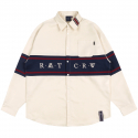 로맨틱크라운(ROMANTIC CROWN) RMTCRW CROSS LINE SHIRT_OATMEAL