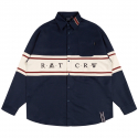 로맨틱크라운(ROMANTIC CROWN) RMTCRW CROSS LINE SHIRT_NAVY
