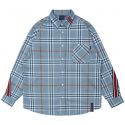 로맨틱크라운(ROMANTIC CROWN) BACK LINE CHECK SHIRT_LIGHT BLUE