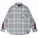 로맨틱크라운(ROMANTIC CROWN) BACK LINE CHECK SHIRT_GREY