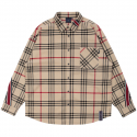 로맨틱크라운(ROMANTIC CROWN) BACK LINE CHECK SHIRT_BEIGE