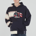 로맨틱크라운(ROMANTIC CROWN) HALF TWIN HOODIE_NAVY