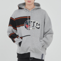 로맨틱크라운(ROMANTIC CROWN) HALF TWIN HOODIE_GREY
