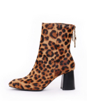 쥬드코넨() JDB19016_COLOR BLOCK BOOTS_LEOPARD