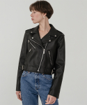 레이디 볼륨() Crop leather biker jacket 2