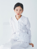 샐러드볼즈(SALAD BOWLS) SHIRRING BLOUSE [WHITE]