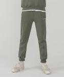 레이디 볼륨() Essential logo sweat pants_khaki