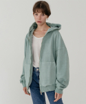 레이디 볼륨() Overfit pigment hood zip-up_mint