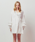 아이아이() EYELET WRAP MINI DRESS_WHITE (EETZ1OPR01W)
