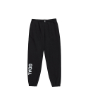 골스튜디오(GOALSTUDIO) FLOCKING KNIT JOGGER PANTS - BLACK