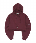 MINI-POCKET CROP HOODIE wine