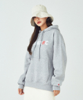 SPACE LOGO HEAVYWEIGHT HOODIE [HEATHER GREY]