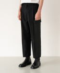 가먼트레이블(GARMENT LABLE) Utility Cargo Pants - Black / WIDE