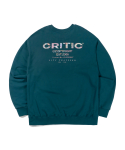 크리틱(CRITIC) ETHNIC LOGO SWEATSHIRT(BLUE GREEN)_CTTZPCR05UB7