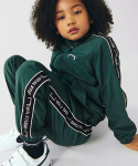 골스튜디오() (KIDS)SMALL LOGO TRACK PANTS - DARK GREEN