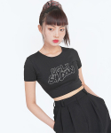 어글리쉐도우() BIZ CROP TOP(BLACK)
