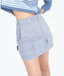 어글리쉐도우(UGLYSHADOW) POINT POCKET SKIRT(BLUE)