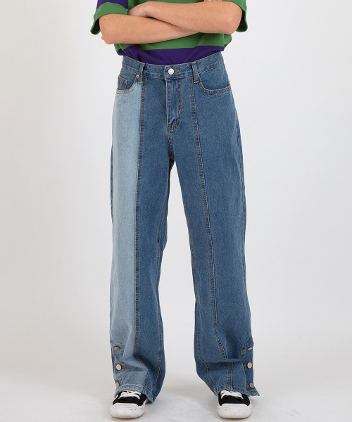 메인부스(MAINBOOTH) Bleach Denim Pants(BLUE)