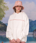 메인부스(MAINBOOTH) Color Block Hood T-shirt(IVORY WHITE)