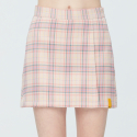 로맨틱크라운(ROMANTIC CROWN) TARTAN CHECK WRAP SKIRT_PINK