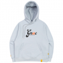 로맨틱크라운(ROMANTIC CROWN) GNAC ROLLING LOGO HOODIE_SKY BLUE