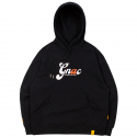 로맨틱크라운(ROMANTIC CROWN) GNAC ROLLING LOGO HOODIE_BLACK