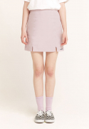 클로티(CLOTTY) LOGO BANDING SKIRT PURPLE(CY2ASFPA90A)