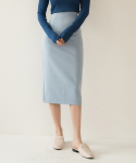 리올그(REORG) FOR BACK SLIT SKIRT SKYBLUE
