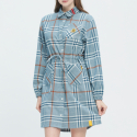 로맨틱크라운(ROMANTIC CROWN) GNAC TARTAN CHECK DRESS_LIGHT BLUE