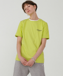 레이디 볼륨() Ladyvolume logo short sleeve T-shirt_lime