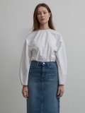 ROUND-NECK COTTON BLOUSE WHITE UDBL0E203WT
