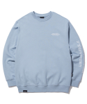 그루브라임(GROOVE RHYME) MATRIX LOCATION SWEAT SHIRTS (LIGHT BLUE) [GMT522I13LB]