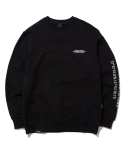 그루브라임(GROOVE RHYME) MATRIX LOCATION SWEAT SHIRTS (BLACK) [GMT522I13BK]