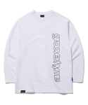 그루브라임(GROOVE RHYME) COLUMN LOGO LONG SLEEVE T-SHIRTS (WHITE) [GLT622I13WH]