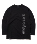 그루브라임(GROOVE RHYME) COLUMN LOGO LONG SLEEVE T-SHIRTS (BLACK) [GLT622I13BK]