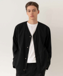 Snap Collarless Blouson / Semi over