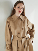룩캐스트() BEIGE RAGLAN LONG TRENCH COAT
