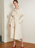 룩캐스트() IVORY RAGLAN LONG TRENCH COAT