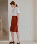 엽페() STITCH SKIRT_BROWN
