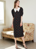 룩캐스트() BLACK BIG COLLAR LONG DRESS